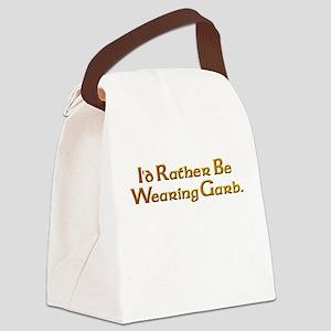 Rather Wear Garb Canvas Lunch Bag