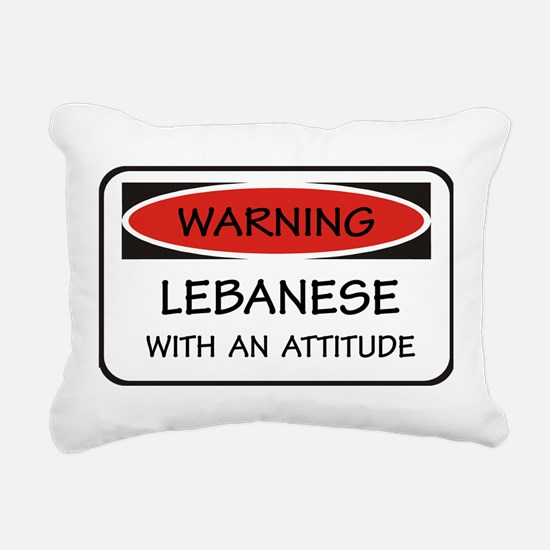 Attitude Lebanese Rectangular Canvas Pillow