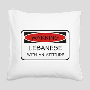 Attitude Lebanese Square Canvas Pillow