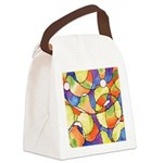 Carnival Balloons Abstract Canvas Lunch Bag