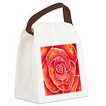 Red-Orange Rose Canvas Lunch Bag