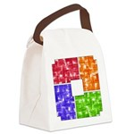 Aerial Color Plots Canvas Lunch Bag