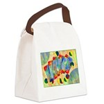 Poker Abstract Watercolor Canvas Lunch Bag