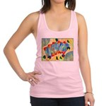 Poker Abstract Watercolor Racerback Tank Top