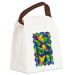 Leaf Mosaic Canvas Lunch Bag