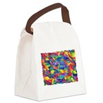 Cosmic Ribbons Canvas Lunch Bag