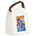 Surreal Seascape Watercolor Canvas Lunch Bag