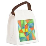 Color Square Abstract One Canvas Lunch Bag