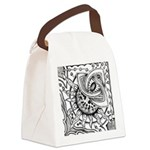 Cosmic Thing Illustration Canvas Lunch Bag