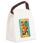 Autumn Quilt Watercolor Canvas Lunch Bag