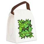 Through the Leaves Watercolor Canvas Lunch Bag