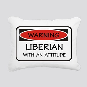 Attitude Liberian Rectangular Canvas Pillow