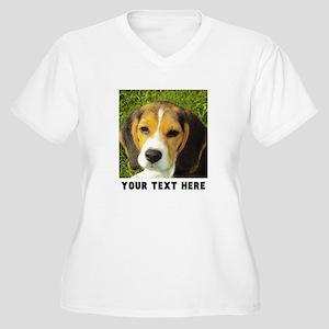 Dog Photo Persona Women's Plus Size V-Neck T-Shirt