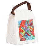 Multicolor Oak Leaf Art Canvas Lunch Bag