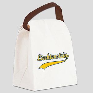 Retro Liechtenstein Canvas Lunch Bag