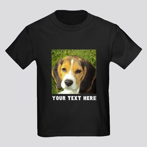 Dog Photo Personalized Kids Dark T-Shirt