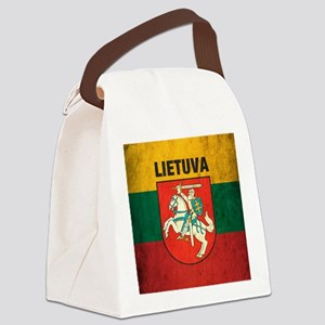 Vintage Lithuania Canvas Lunch Bag