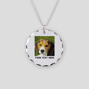 Dog Photo Personalized Necklace Circle Charm