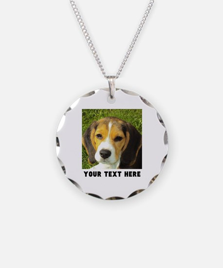 Dog Photo Personalized Necklace Circle Charm