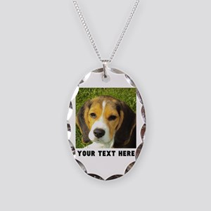 Dog Photo Personalized Necklace Oval Charm