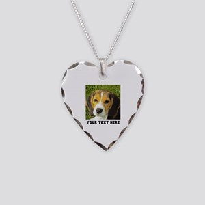 Dog Photo Personalized Necklace Heart Charm