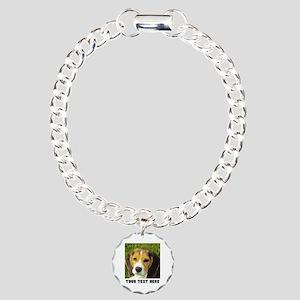 Dog Photo Personalized Charm Bracelet, One Charm