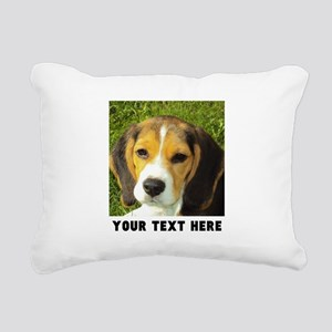 Dog Photo Personalized Rectangular Canvas Pillow