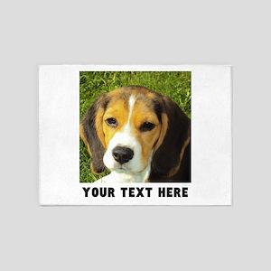 Dog Photo Personalized 5'x7'Area Rug