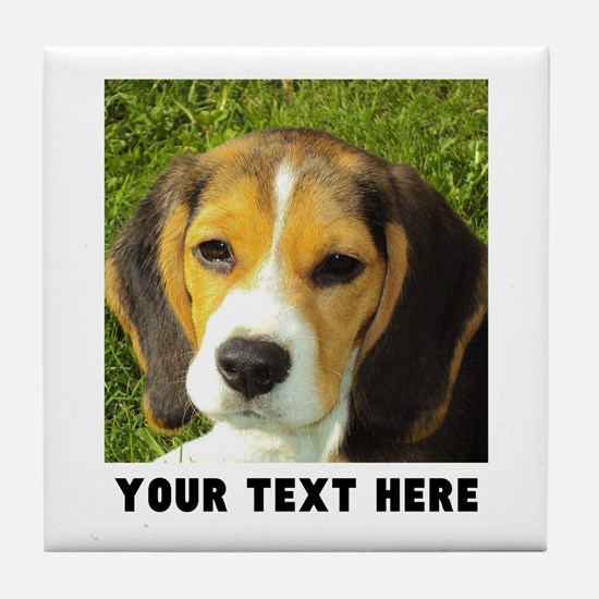 Dog Photo Personalized Tile Coaster