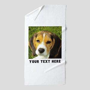 Dog Photo Personalized Beach Towel