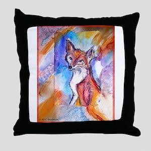 Fox, wildlife art! Throw Pillow