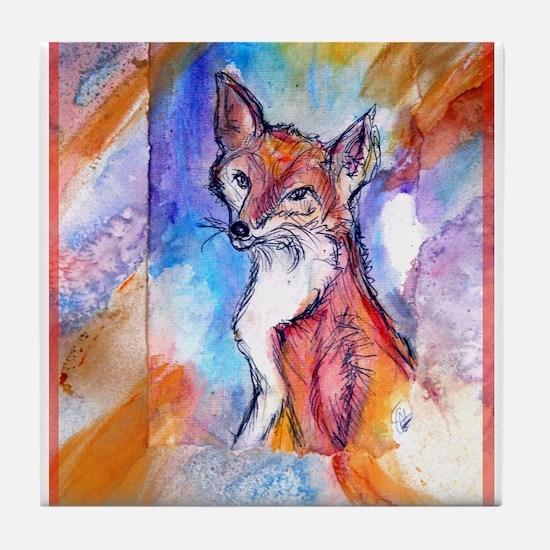 Fox, wildlife art! Tile Coaster
