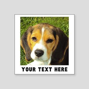 "Dog Photo Personalized Square Sticker 3"" x 3"""