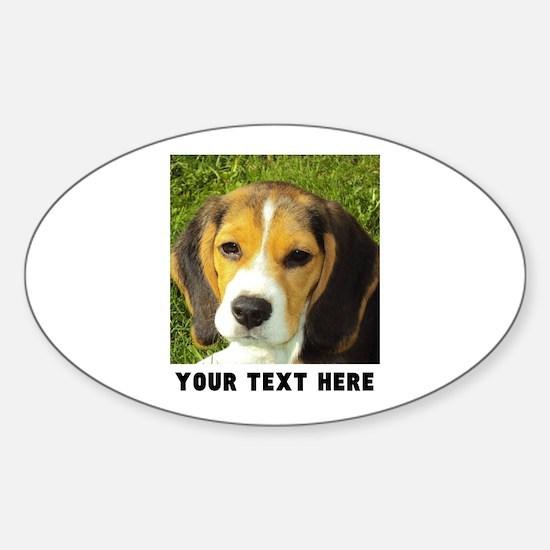 Dog Photo Personalized Sticker (Oval)