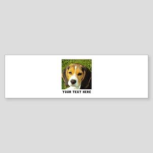 Dog Photo Personalized Sticker (Bumper)