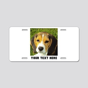 Dog Photo Personalized Aluminum License Plate