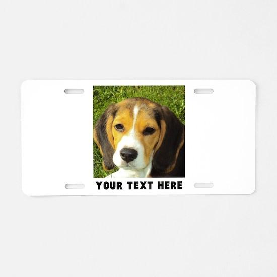 Dog Photo Personalized Aluminum License Plate
