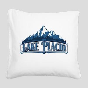 Lake Placid Blue Mountain Shirt Square Canvas