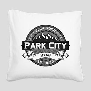 Park City Grey Square Canvas Pillow
