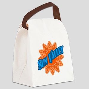 Sun Vally Orange SUn Canvas Lunch Bag