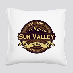 Sun Valley Sepia Square Canvas Pillow