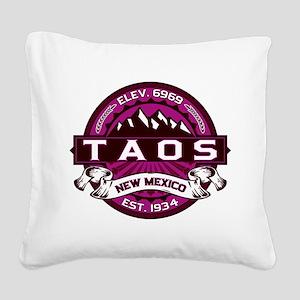 Taos Raspberry Square Canvas Pillow