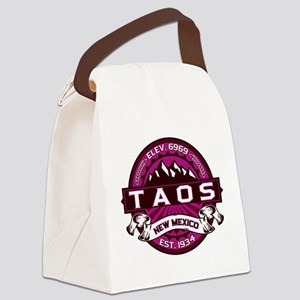 Taos Raspberry Canvas Lunch Bag