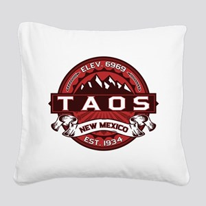 Taos Red Square Canvas Pillow