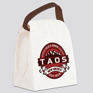 Taos Red Canvas Lunch Bag