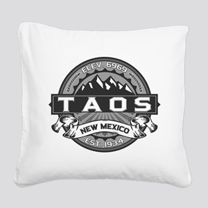 Taos Grey Square Canvas Pillow