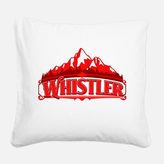 Whistler Canada Red Mountain.png Square Canvas Pil
