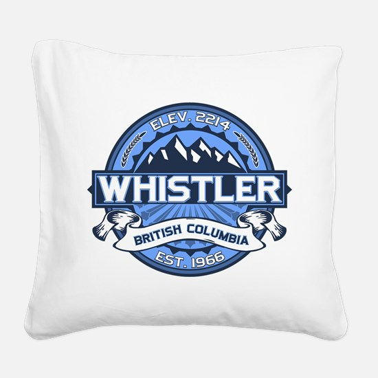 Whistler Blue Square Canvas Pillow