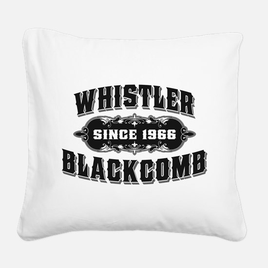 Cute Whistler Square Canvas Pillow