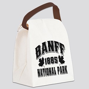 Banff NP Old Style Obsidian Canvas Lunch Bag